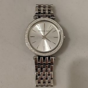 Michael Kors silver/diamond watch